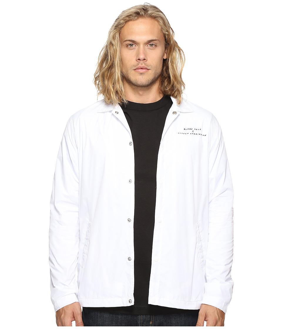Benny Gold - Harrington Premium Coach Jacket (White) Men's Jacket