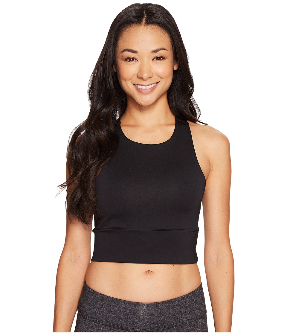 adidas - Speed Crop Tank Top (Black/White) Women's Sleeveless