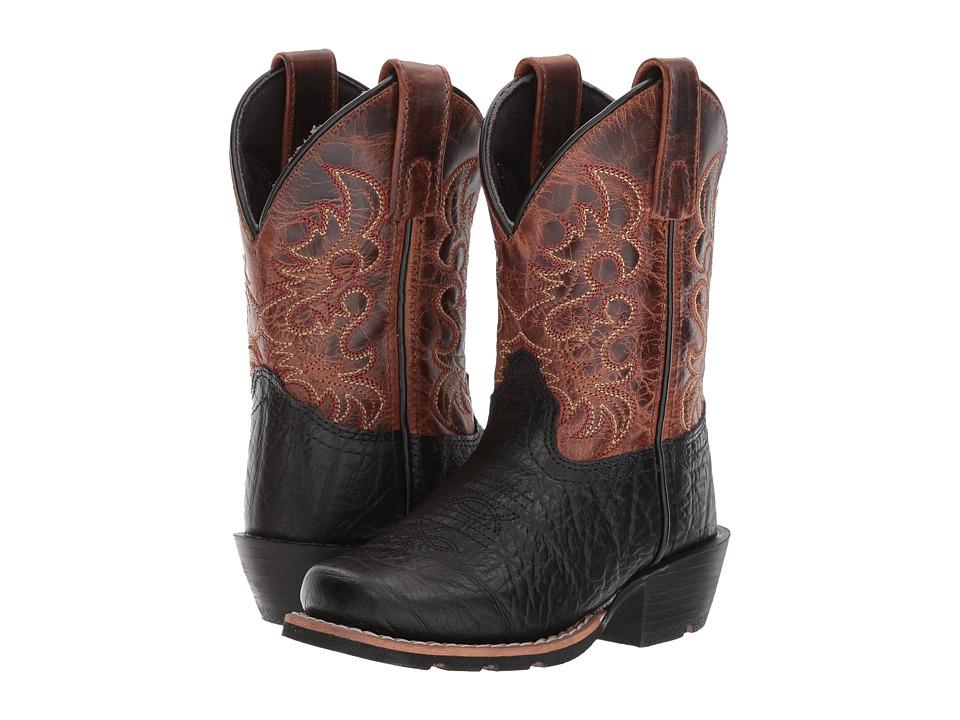 Dan Post Kids - Little River (Toddler/Little Kid) (Black/Rust) Cowboy Boots