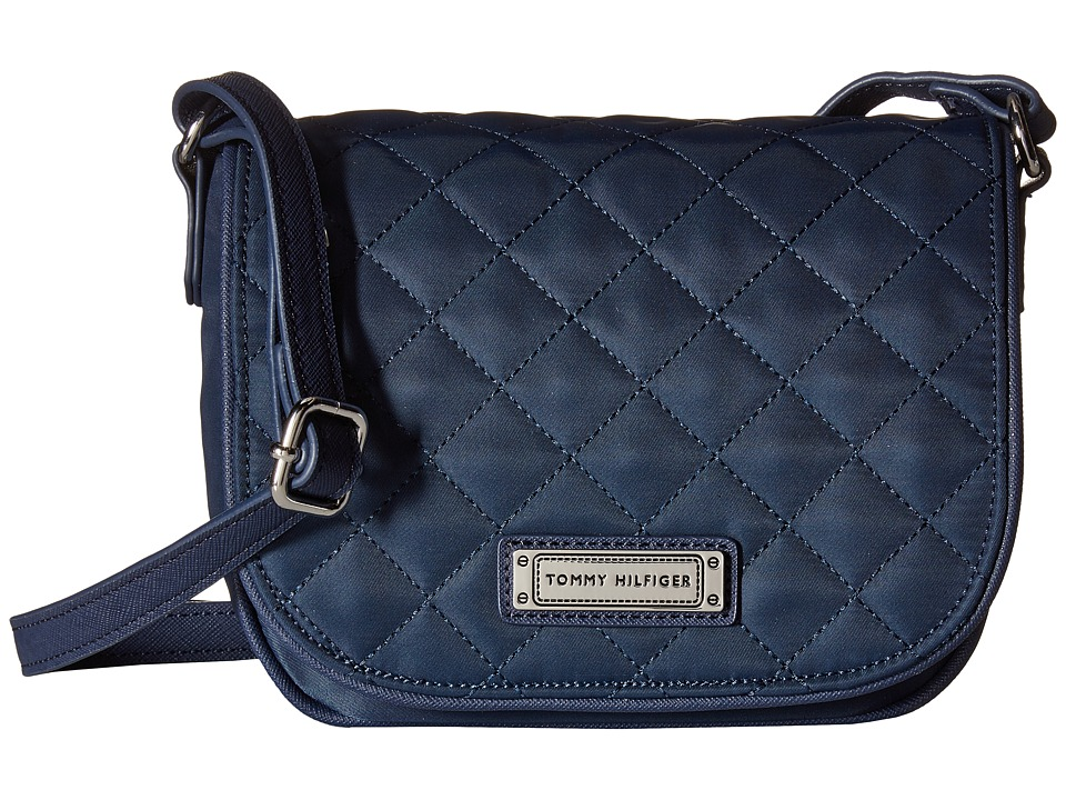 Tommy Hilfiger - Josephine II Saddle Nylon Bag (Navy) Cross Body Handbags