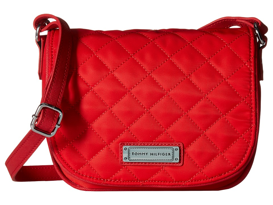 Tommy Hilfiger - Josephine II Saddle Nylon Bag (Racing Red) Cross Body Handbags