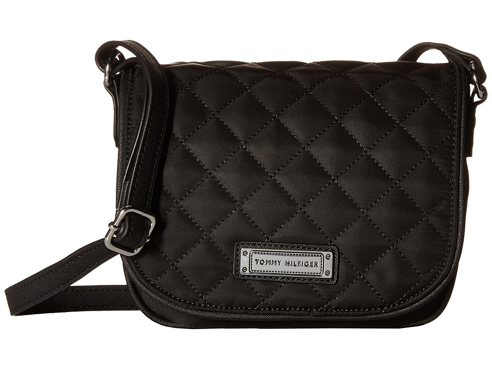 Tommy Hilfiger - Josephine II Saddle Nylon Bag (Black) Cross Body Handbags