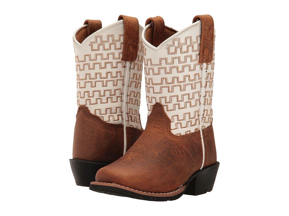 Dan Post Kids Sammie (Toddler/Little Kid) (Rust/White) Cowboy Boots