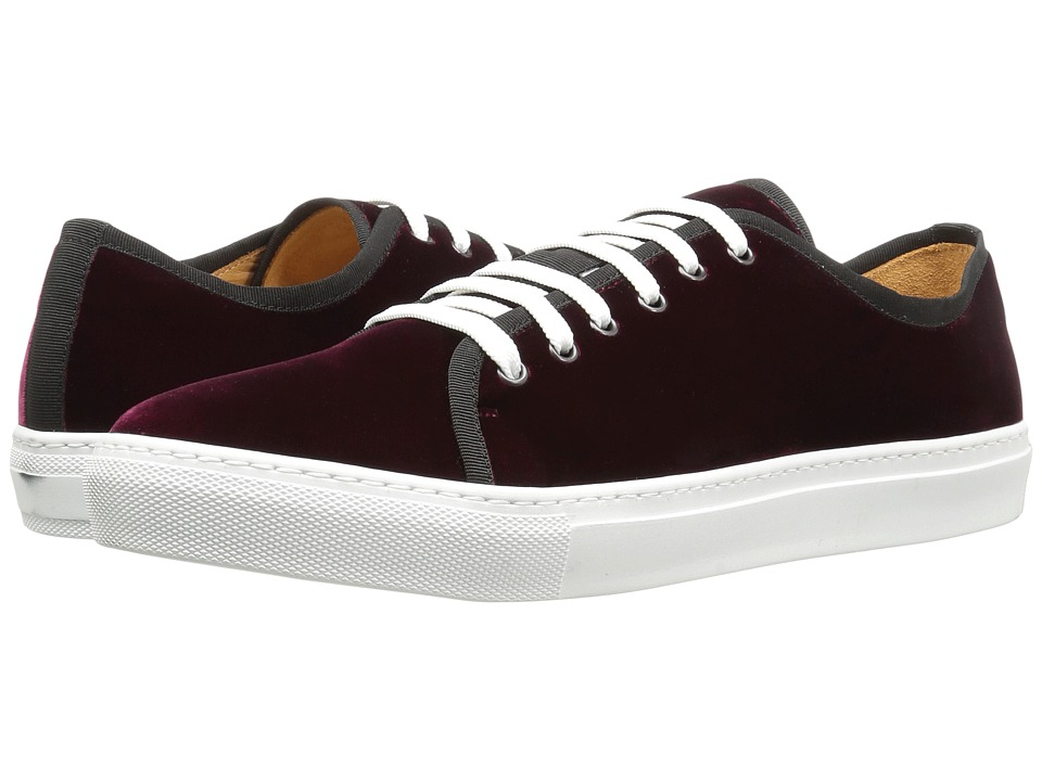 Gold & Gravy - Earl (Bordo Velvet) Men's Lace up casual Shoes