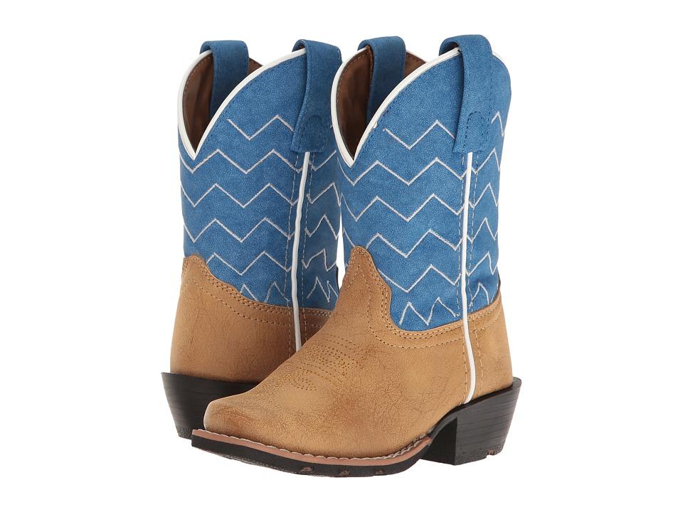 Laredo Kids Easton (Toddler/Little Kid) (Tan/Blue) Cowboy Boots