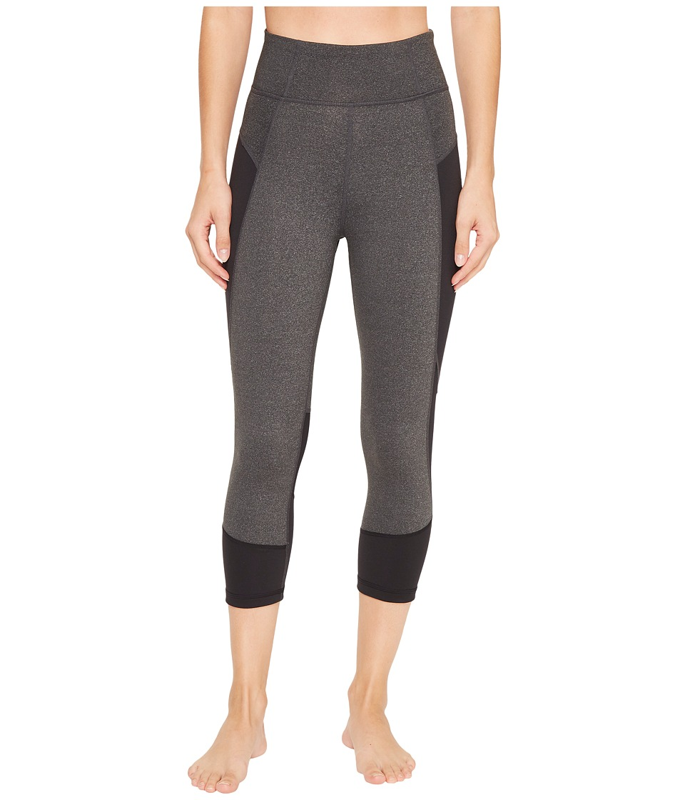 adidas Mesh Mix Performer High-Rise 3/4 Tights (Dark Grey Heather/Black) Women