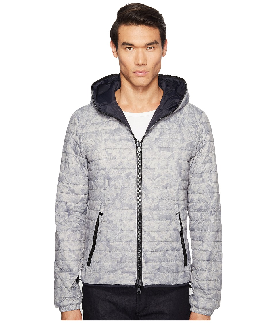 DUVETICA - Dragotre Hooded Reversible Light Down Jacket (Fiore Tropicale) Men's Coat