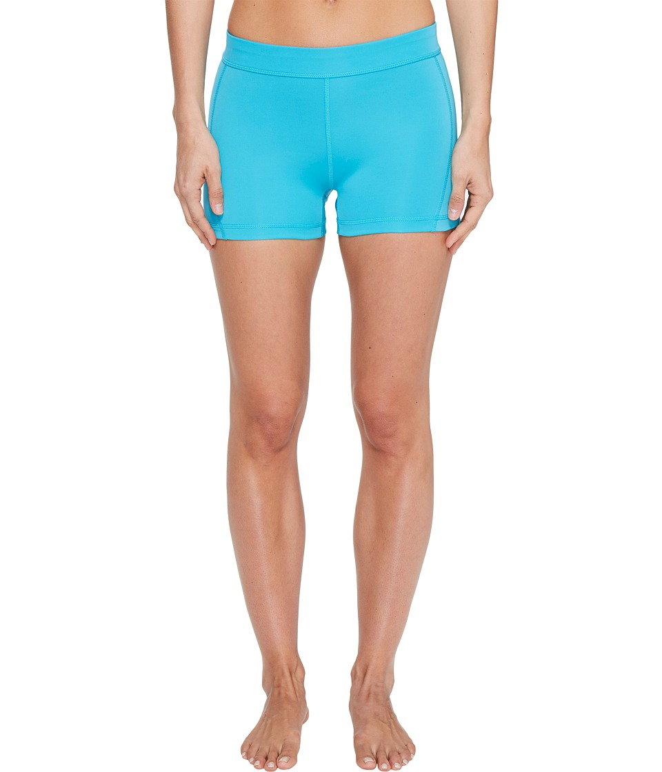 adidas Techfit 3 Short Tights (Energy Blue/Matte Silver) Women