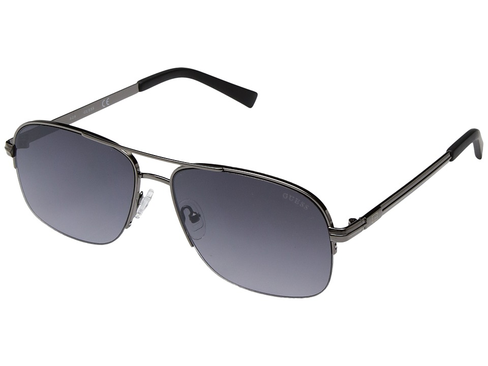 GUESS - GF5014 (Gunmetal/Smoke Mirror Lens) Fashion Sunglasses