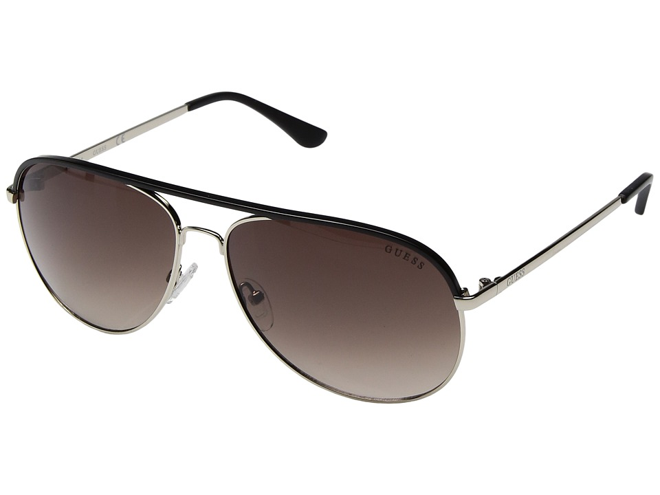 GUESS - GF5013 (Gold/Black/Brown Gradient Lens) Fashion Sunglasses