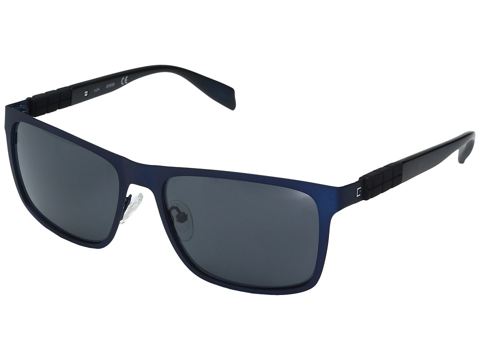 GUESS - GF0169 (Satin Navy/Smoke Lens) Fashion Sunglasses