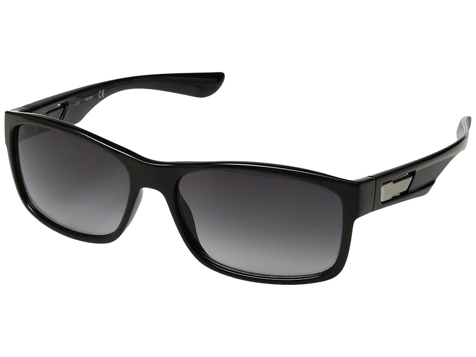 GUESS - GF5011 (Shiny Black/Smoke Gradient Lens) Fashion Sunglasses