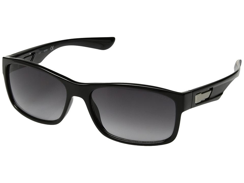 GUESS - GF5011 (Shiny Black/Smoke Gradient Lens) Fashion Sunglasses