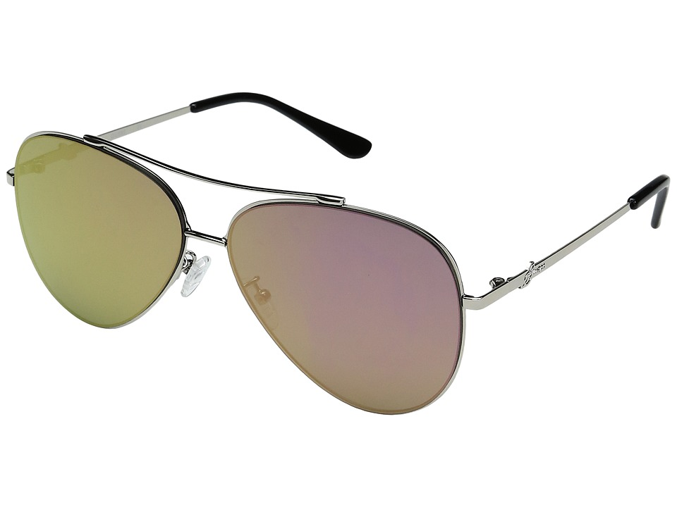 GUESS - GF0301 (Silver/Rose Gold Mirror Lens) Fashion Sunglasses