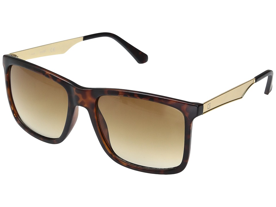GUESS - GF0171 (Matte Dark Havana/Brown Gradient Lens) Fashion Sunglasses