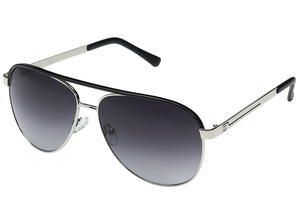 GUESS - GF0172 (Silver/Black Line/Smoke Gradient Lens) Fashion Sunglasses
