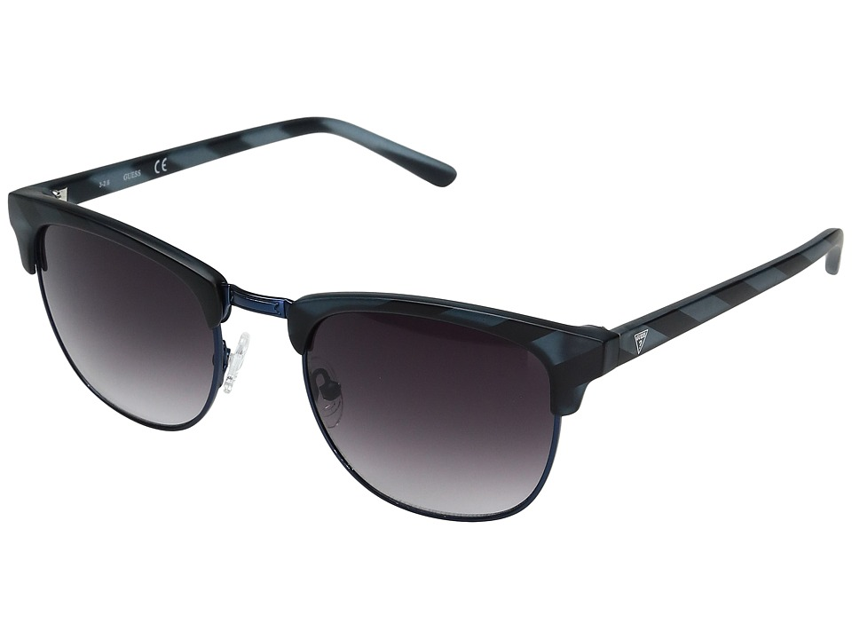 GUESS - GF0170 (Matte Blue Horn/Smoke Gradient Lens) Fashion Sunglasses