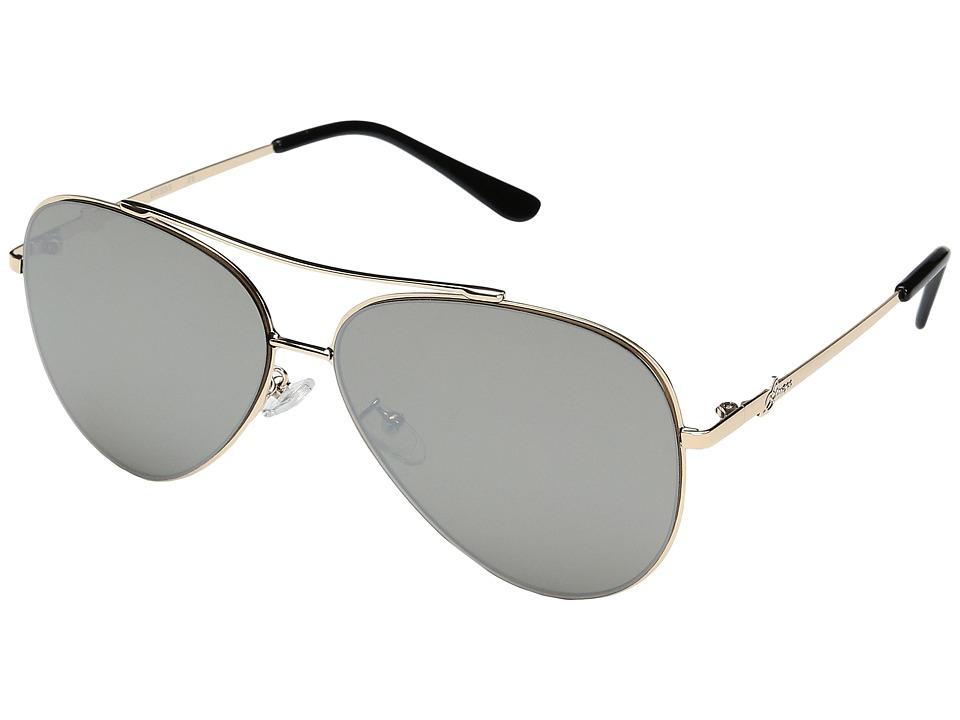 GUESS - GF0301 (Gold/Brown Mirror Lens) Fashion Sunglasses