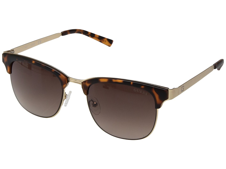 GUESS - GF5016 (Matte Dark Havana/Gold/Brown Gradient Lens) Fashion Sunglasses