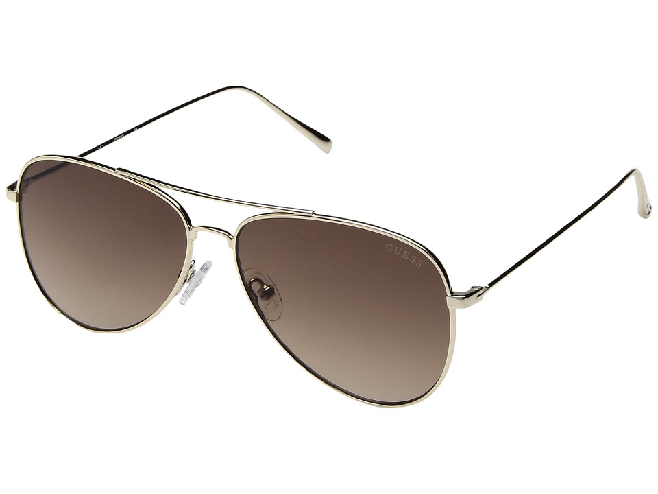 GUESS - GF6035 (Gold/Rose Gold Mirror Lens) Fashion Sunglasses