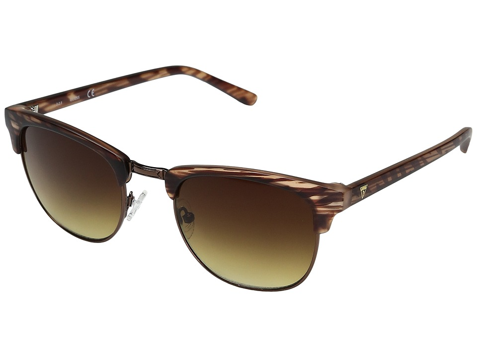 GUESS - GF0170 (Matte Brown Horn/Brown Gradient Lens) Fashion Sunglasses