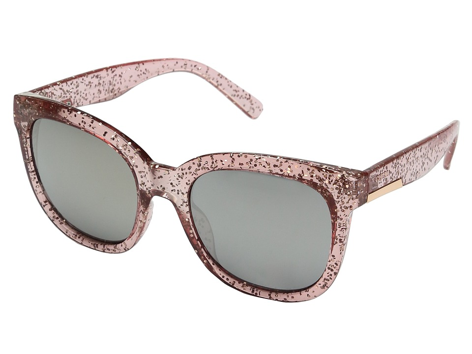 GUESS - GF0299 (Crystal Blush Glitter/Brown Mirror Lens) Fashion Sunglasses
