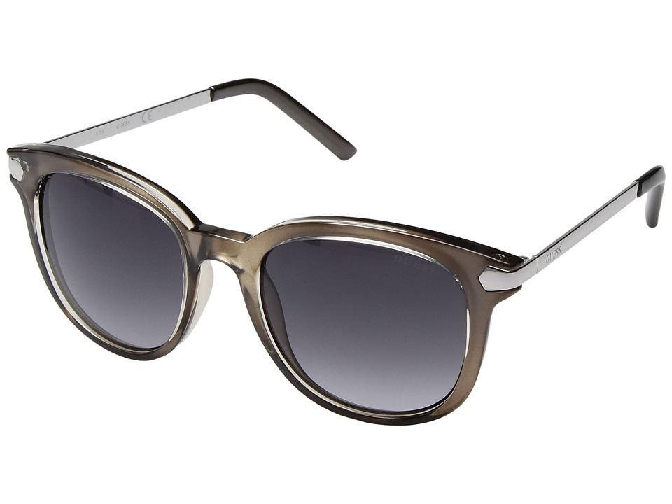 GUESS - GF6022 (Crystal Grey/Smoke Gradient Lens) Fashion Sunglasses