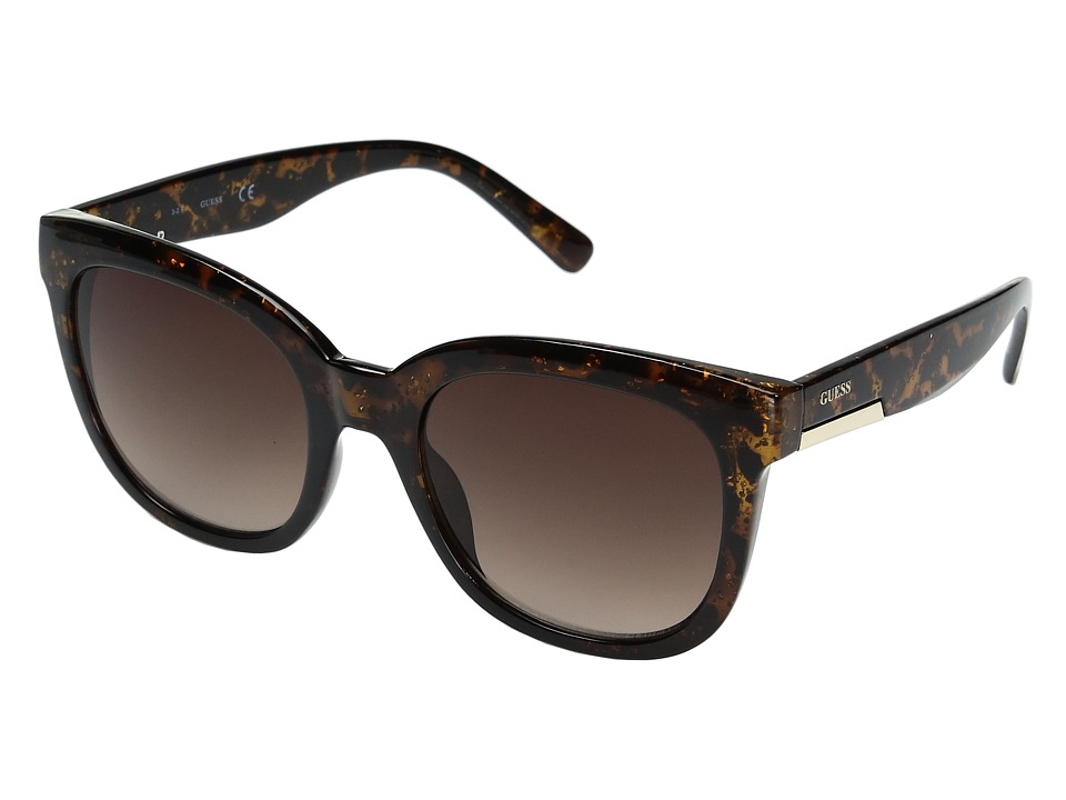 GUESS - GF0299 (Dark Havana Glitter/Brown Gradient Lens) Fashion Sunglasses