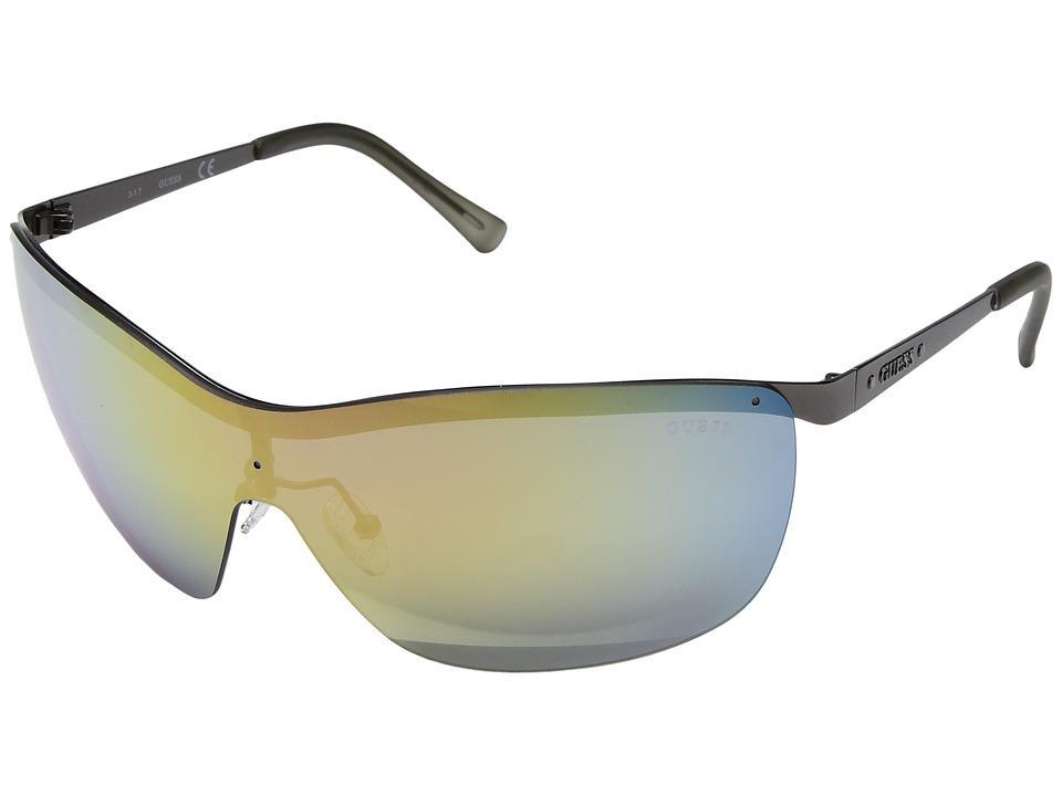 GUESS - GF6032 (Matte Gunmetal/Rose Gold Mirror Lens) Fashion Sunglasses