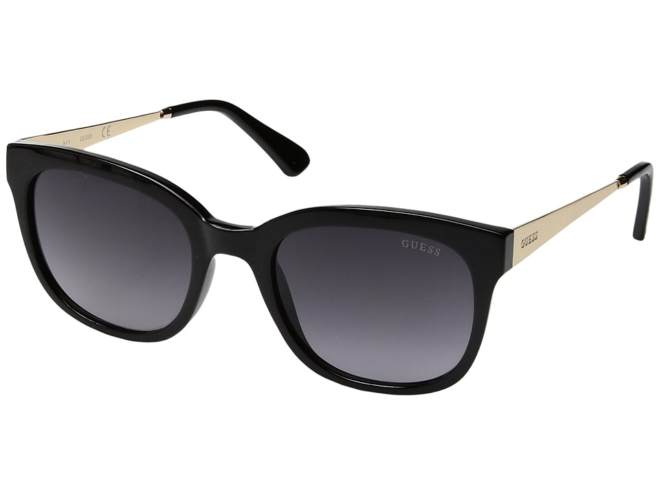 GUESS - GF6028 (Black/Smoke Gradient Lens) Fashion Sunglasses