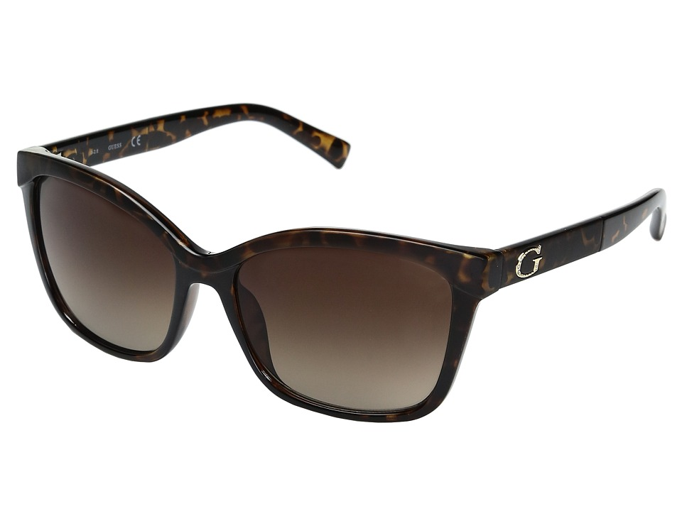 GUESS - GF0300 (Dark Havana/Gradient Brown Lens) Fashion Sunglasses