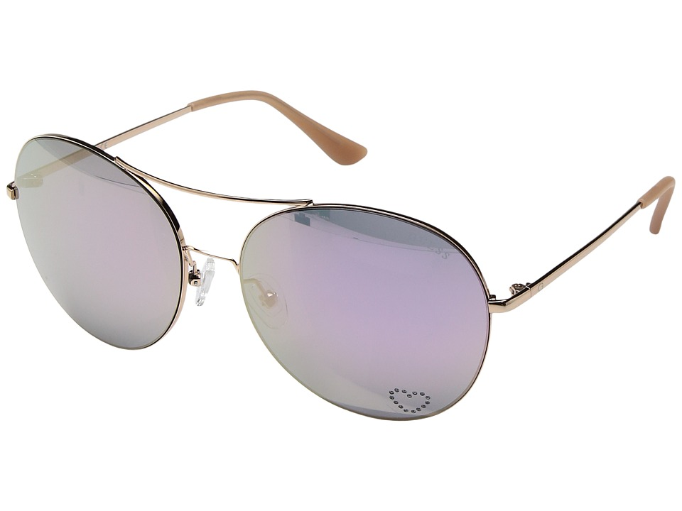 GUESS - GF6027 (Rose Gold/Rose Gold Mirror Lens) Fashion Sunglasses