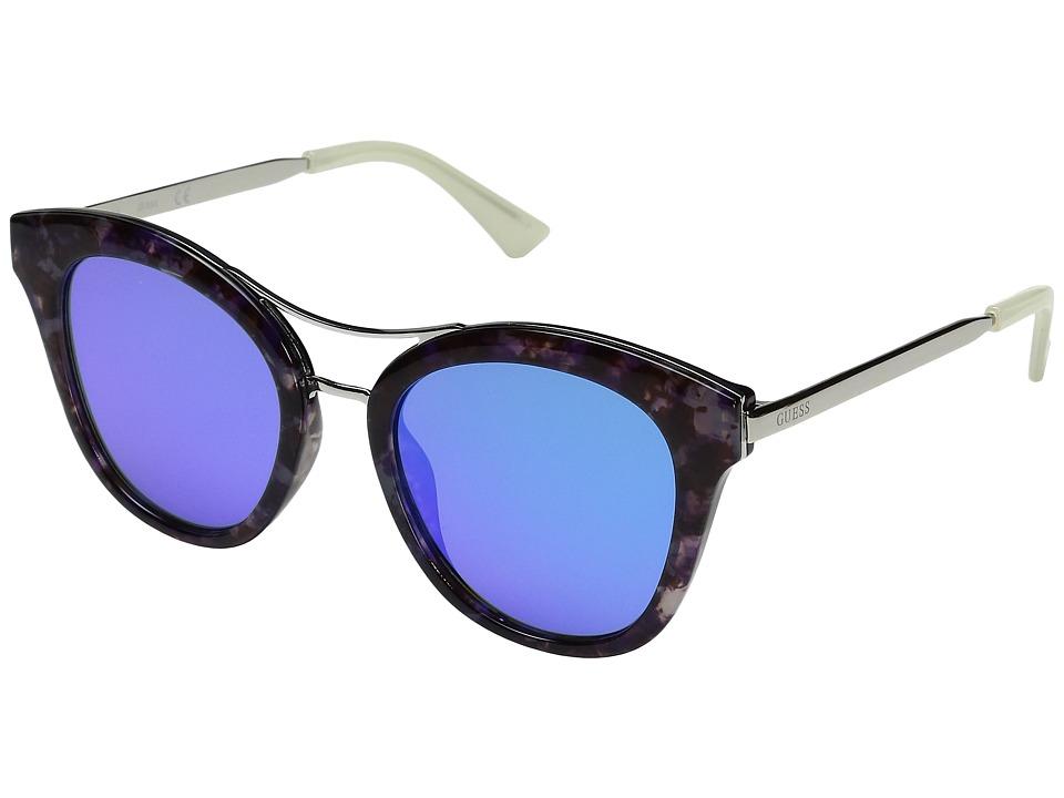 GUESS - GF0304 (Blue Marble/Blue Mirror Lens) Fashion Sunglasses