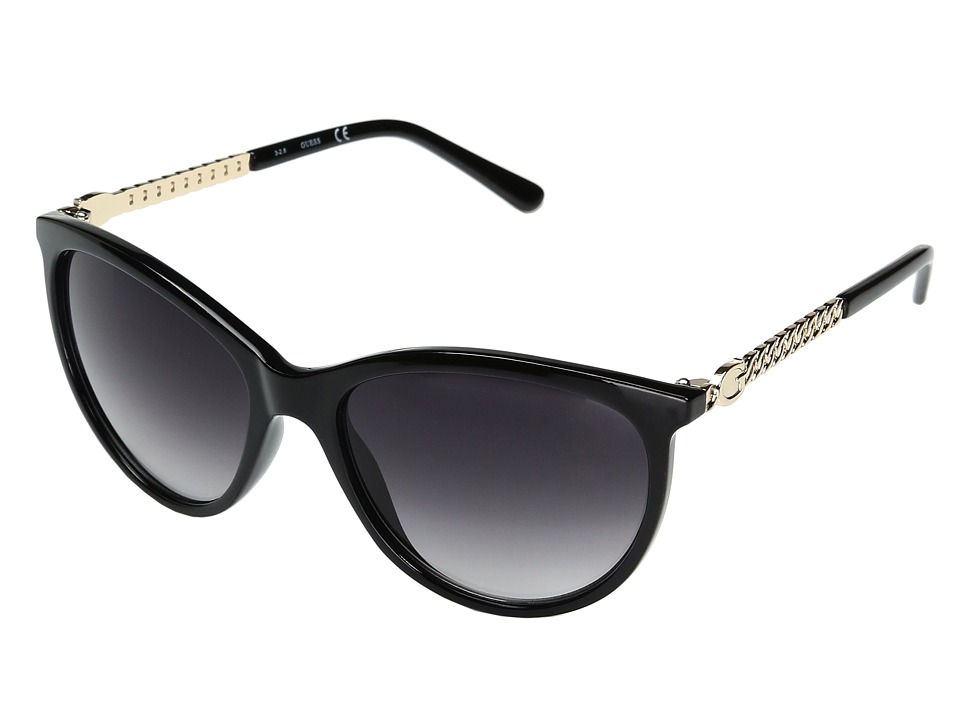 GUESS - GF0307 (Black/Smoke Gradient Lens) Fashion Sunglasses
