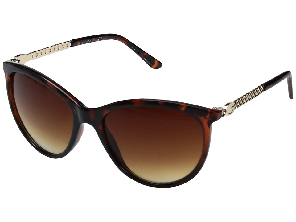 GUESS - GF0307 (Dark Havana/Brown Gradient Lens) Fashion Sunglasses