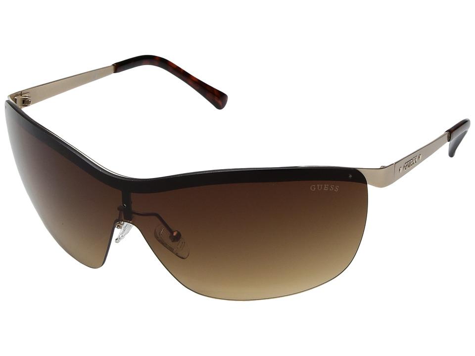 GUESS - GF6032 (Matte Gold/Brown Gradient Lens) Fashion Sunglasses