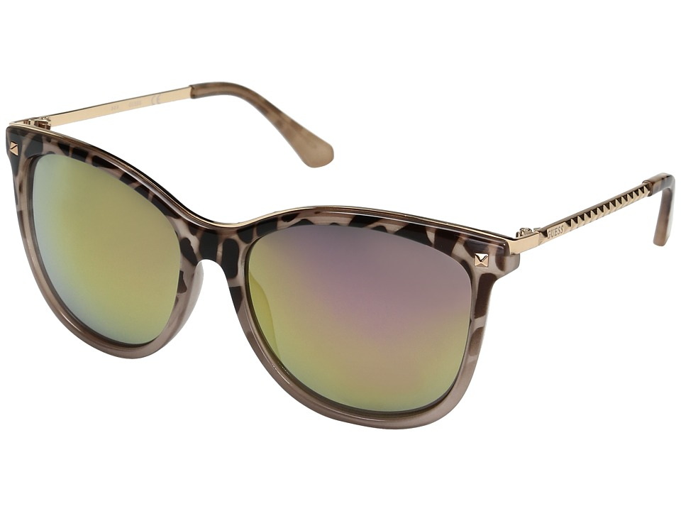 GUESS - GF0302 (Pink Tort/Rose Gold Mirror Lens) Fashion Sunglasses