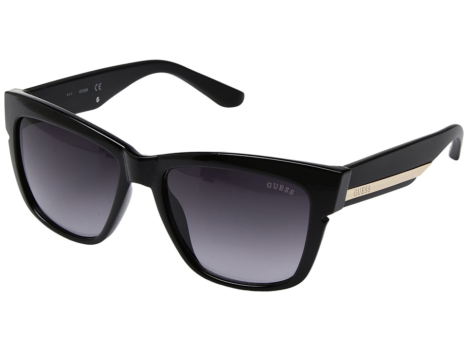 GUESS - GF6036 (Black/Smoke Gradient Lens) Fashion Sunglasses