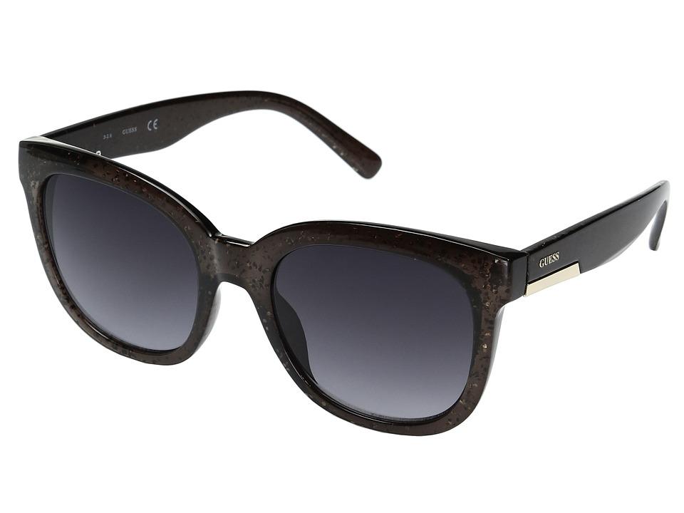 GUESS - GF0299 (Black Glitter/Smoke Gradient Lens) Fashion Sunglasses