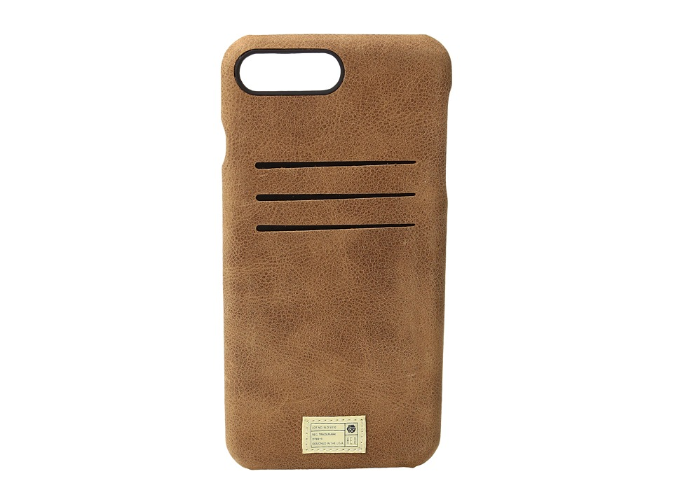 HEX - Solo Wallet iPhone 7 Plus (Brown Leather) Cell Phone Case