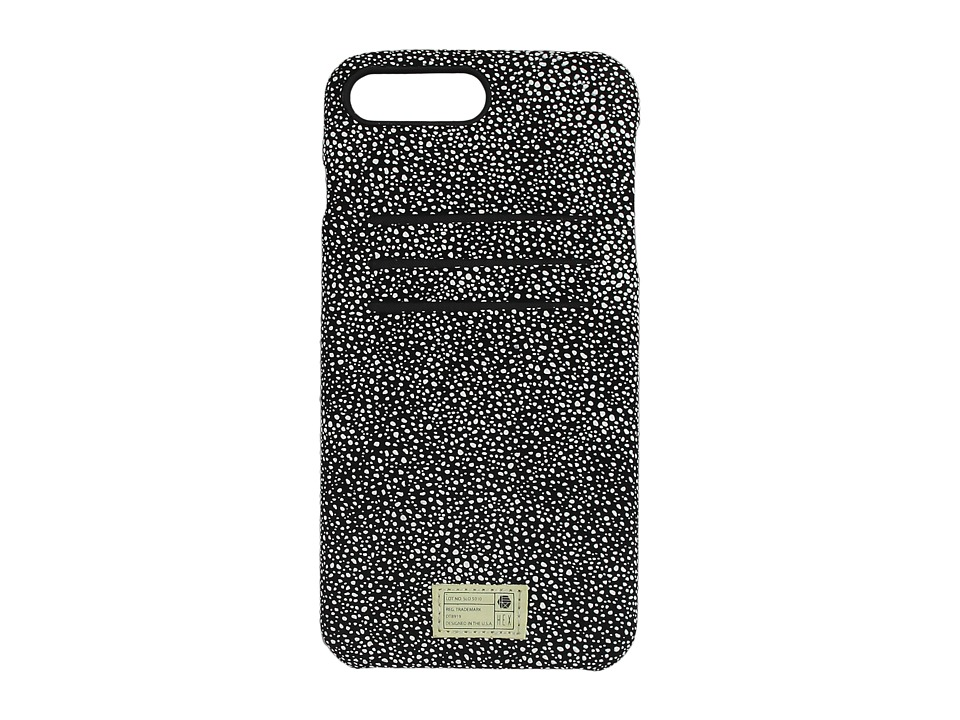 HEX - Solo Wallet iPhone 7 Plus (Black/White Stingray Leather) Cell Phone Case