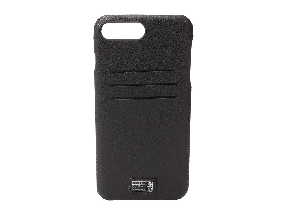 HEX - Solo Wallet iPhone 7 Plus (Black Leather) Cell Phone Case