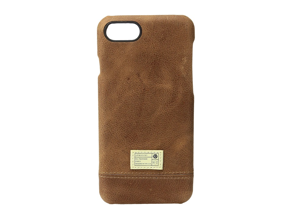 HEX - Focus Case iPhone 7 (Brown Leather) Cell Phone Case