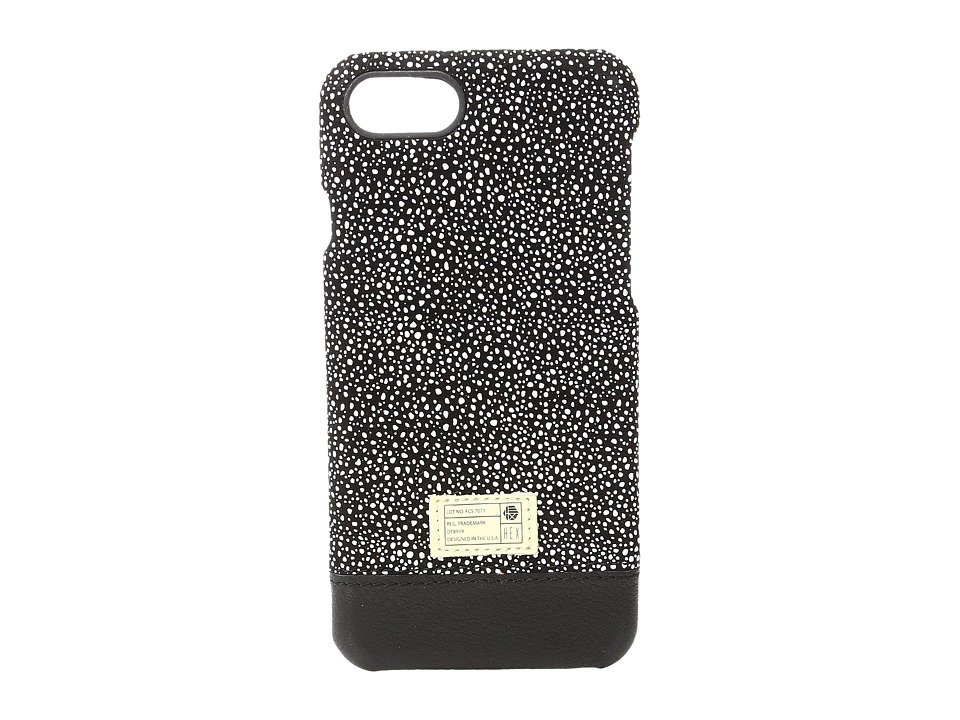 HEX - Focus Case iPhone 7 (Black/White Stingray Leather) Cell Phone Case