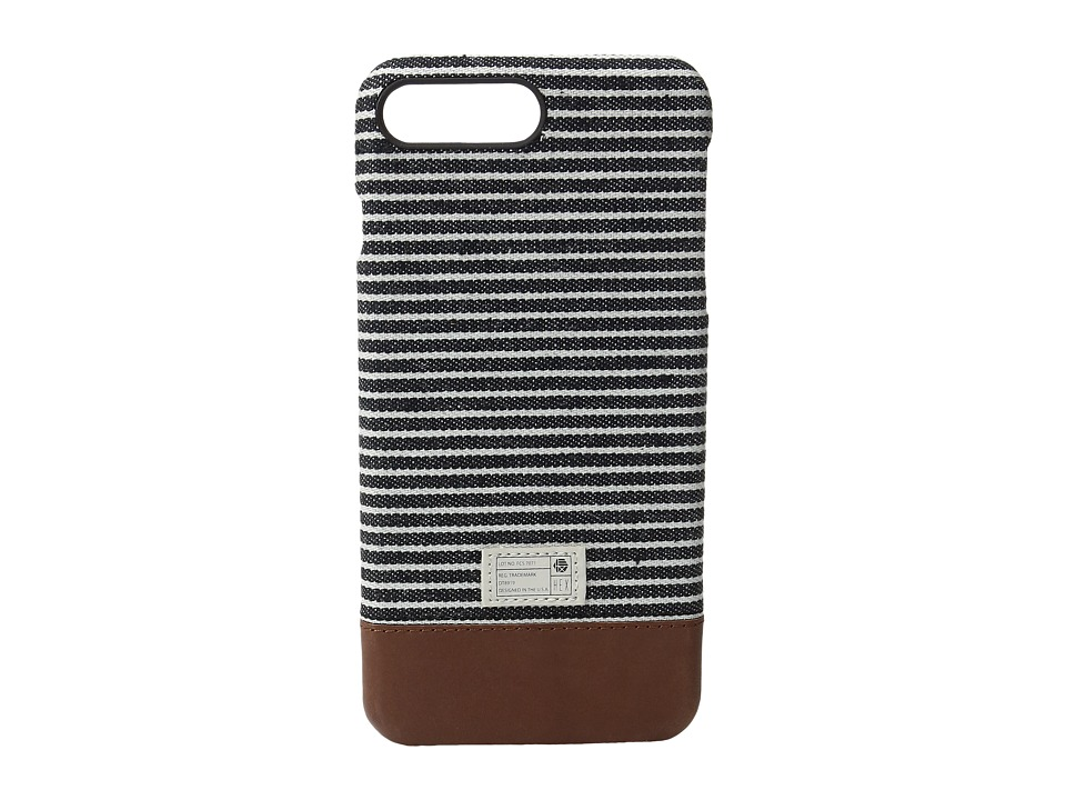 HEX - Focus Case iPhone 7 Plus (Black/Grey Stripe Canvas) Cell Phone Case