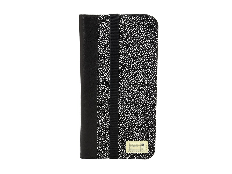 HEX - Icon Wallet iPhone 7 Plus (Black/White Stingray Leather) Cell Phone Case