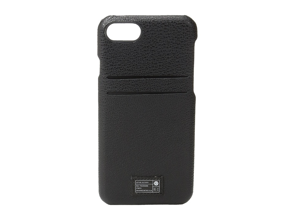HEX - Solo Wallet iPhone 7 (Black Leather) Cell Phone Case