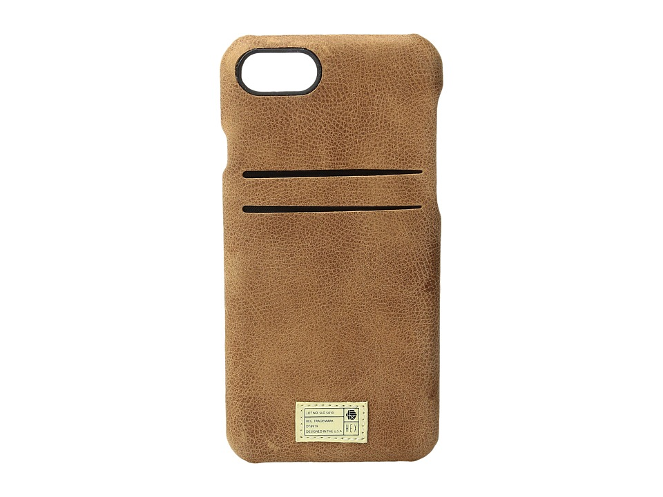 HEX - Solo Wallet iPhone 7 (Brown Leather) Cell Phone Case