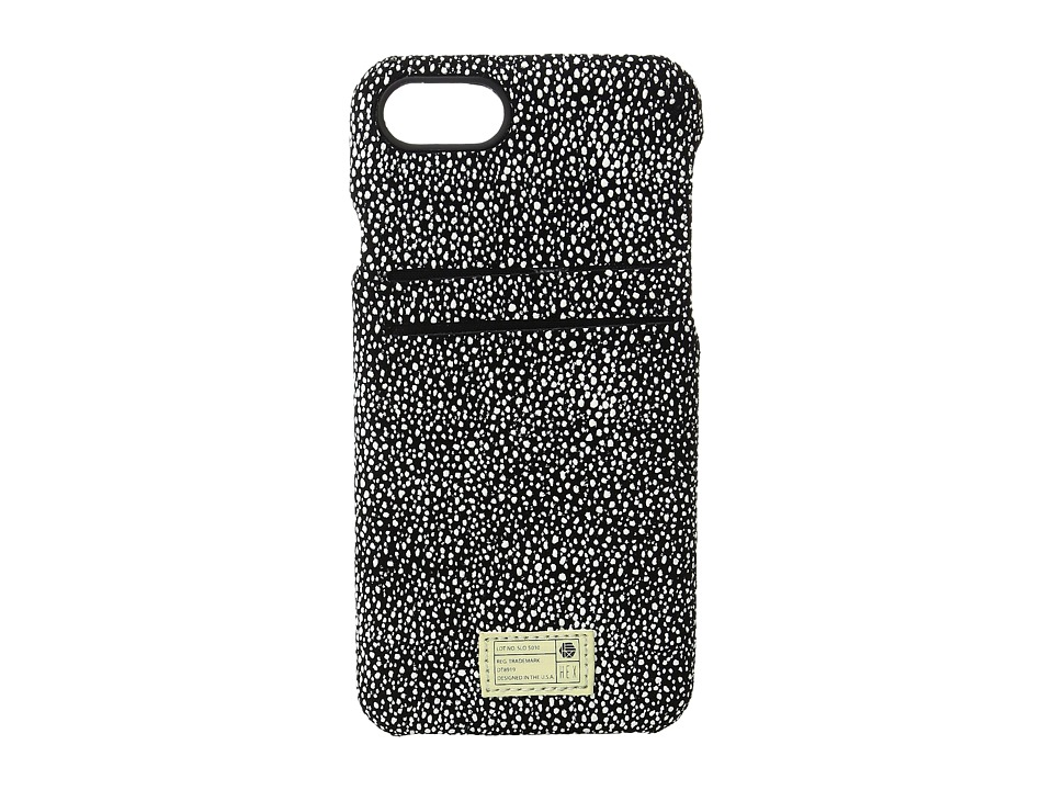 HEX - Solo Wallet iPhone 7 (Black/White Stingray Leather) Cell Phone Case