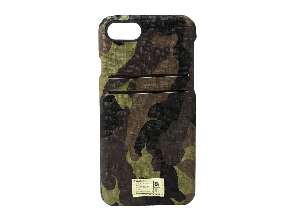 HEX - Solo Wallet iPhone 7 (Camo Leather) Cell Phone Case
